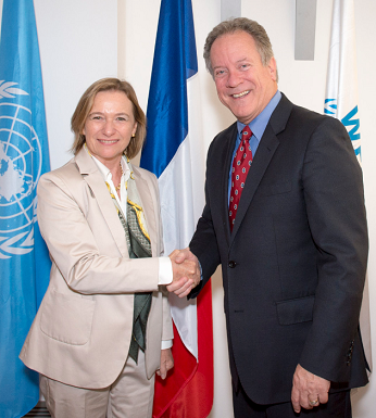 Delphine Borione et David Beasley - PNG